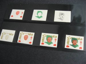 Canada 7 MNH progressive proofs of 1953 Christmas Seals, check them out!