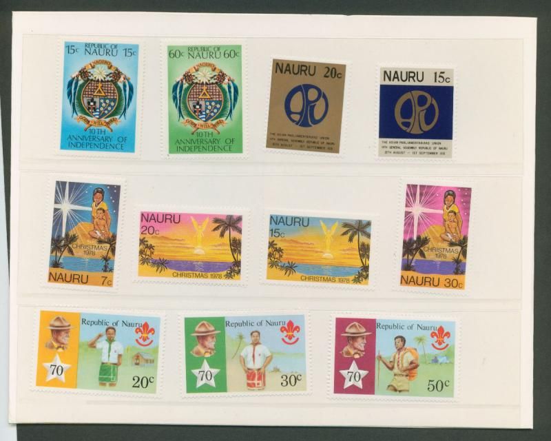 Nauru   1978 Presentation pack of 4 commemorative sets  MUH