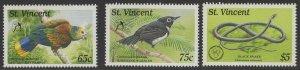 ST.VINCENT SG1366/8 1989 WILDLIFE MNH