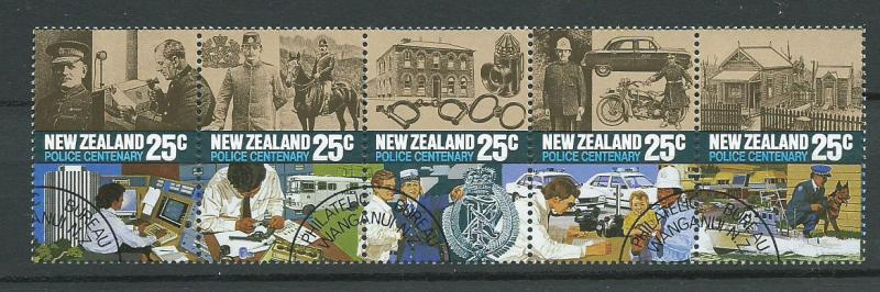 New Zealand SG 1384a se tenant x5 Philatelic Bureau Cancel