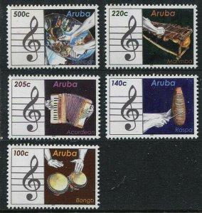 HERRICKSTAMP NEW ISSUES ARUBA Sc.# 522-26 Musical Instruments