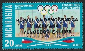 NICARAGUA 1976 DDR EAST GERMANY WINNERS Olympics Airmail Issue Sc C905var MNH