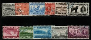 NEWFOUNDLAND SG257/67 1937 CORONATION FINE USED