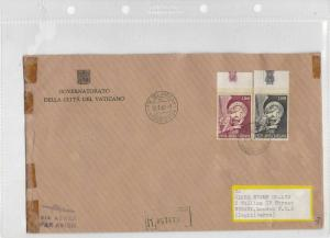 vatican large stamps cover ref 12202