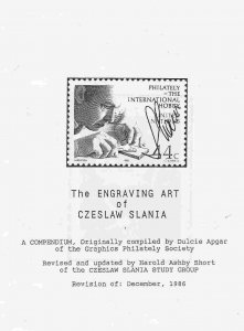The Engraving Art of Czeslaw Slania, 1986, 13 pages, paper bound