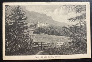 1928 Belfast England Real Picture Postcard Cover To Scotland Cave Hill And Castl