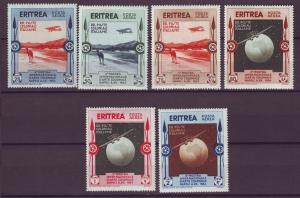 J21247 Jlstamps 1934 eritrea set mh #c1-6 airplanes