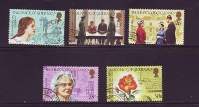 Guernsey Sc 274-8 1984 Dame of Sark stamps used