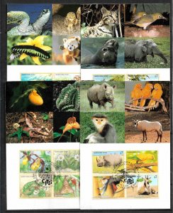 UNITED NATIONS VIENNA 1994-98 SET OF 4 MAXIMUM CARDS ENDANGERED SPECIES