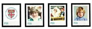 Fiji 470-73 MNH 1983 Princess Diana issue