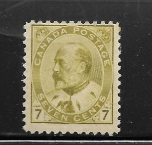 CANADA, 92,  MINT HINGED, KING EDWARD VII