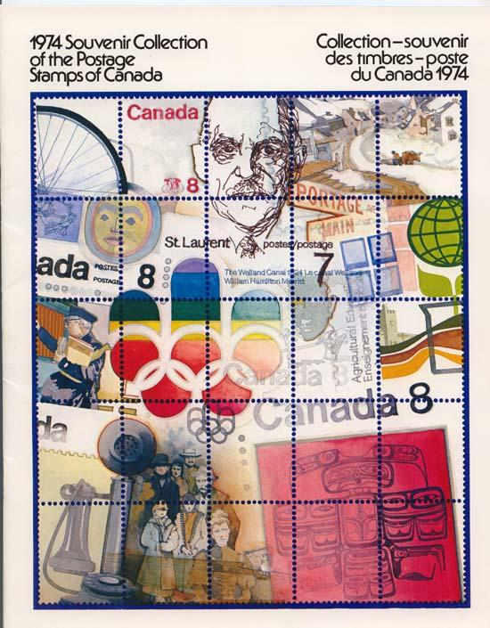 Canada - Souvenir Collection of the Postage Stamps 1974