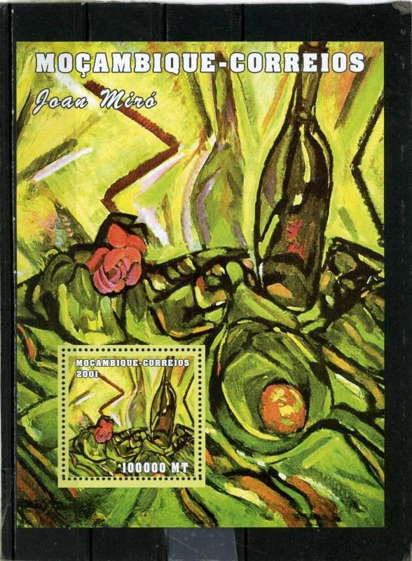 MOZAMBIQUE 2001 Sc#1508 PAINTINGS BY JOAN MIRO S/S MNH