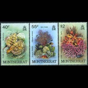 MONTSERRAT 1980 - Scott# 432-4 Marine Life Set of 3 NH