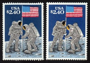 U.S. 2419 Major Black and Yellow Color Shift Error. Stamps are MNH.