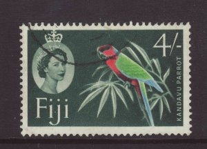1959 Fiji 4/- Wmk Script Fine Used SG308