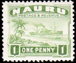 Nauru Scott 18a Unused lightly hinged.
