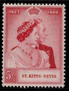 ST KITTS-NEVIS GV SG81, 5s carmine, M MINT.