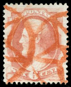 momen: US Stamps #159 Used RED NYFM STAR PF CERT