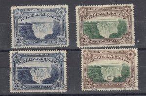 Southern Rhodesia 1935 2d 3d Victoria Falls SG35a/b MH/VFU J9631