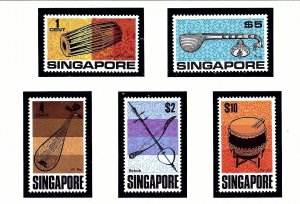 Singapore 107-11 MNH 1969 Musical Instruments