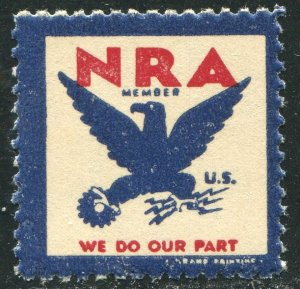 National Recovery Administration--1933 NRA Stamp, Mint Never Hinged