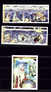 Comoro Is 944-46 MNH 1999 Space Achievements 2 sheets and S/S