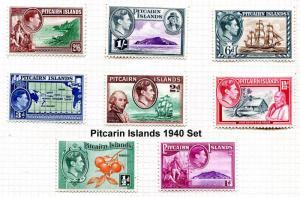 Pitcairn Islands  1940  GVI Pictoral Definitives Original 1940 Issue   MLH