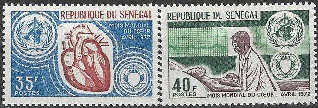 Senegal  359-60  MNH  WHO  Heart Health 1972
