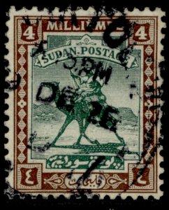 SUDAN GV SG33, 4m green & chocolate, FINE USED. Cat £16.
