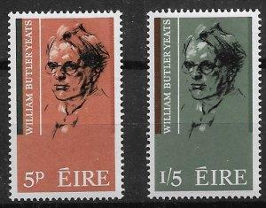 1965 Ireland 200-1 William Butler Yeats C/S of 2 MNH