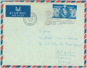 86958 - GB - POSTAL HISTORY - SPECIAL postmark on COVER 1961 Boy Scouts JAMBOREE
