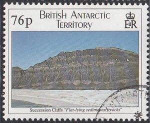 British Antarctic Territory 1995 used Sc #234 76p Succession Cliffs