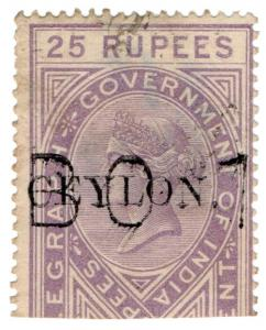 (I.B) Ceylon Telegraphs : Ceylon on India 25R OP