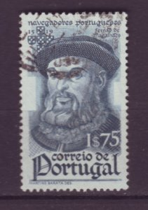 J22055 Jlstamps 1945 portugal part of set used #647 magelan