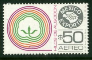 MEXICO Exporta C508, $50P Cotton thread. Unwmk Paper 4 MNH