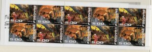 Faroe Islands Sc 428a 2003 Tunnel stamp booklet pane in booklet used