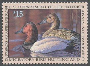 US Scott #RW60 Mint, XF, NH