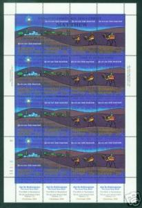 Marshall Islands Scott 58e Christmas Sheet CV $ 9.00