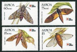 Samoa 797-800,MNH.Michel 724-727. Phila NIPPON-1991.Hawkmoths.