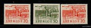 Sweden Sc 634-6 1963  Home of Carl von Linne stamp set mint NH