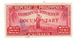 Philippines revenue fiscal stamp 2-27-  as seen - used