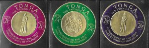 Tonga #C4-C6  Gold Coins  (MNH)  CV $6.40