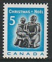 1968 Canada - Sc 488 - MNH VF - 1 single - Christmas - Inuit Soapstone Carving