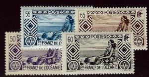 French Polynesia SCV#95-98 Mint F-VF hr...Worth a Close Look!