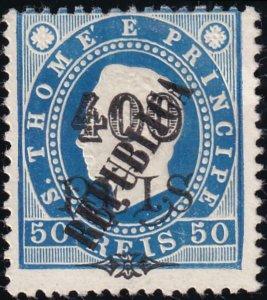 St. Thomas and Prince 1913 SC 131 / Mundo 130 Mint NGAI
