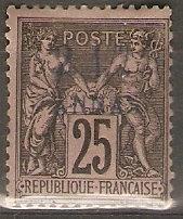 France Off Zanzibar 5 Cer 5 MHR F/VF 1894 SCV $12.50