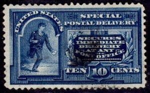 US Stamp #E4 10c Blue Special Delivery USED SCV $110.00