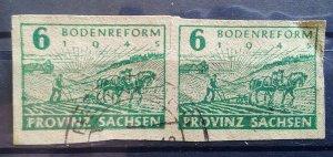 Gemany Provinz Sachsen 85 Plate Flaw
