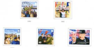 Guernsey Sc 855-9 2005 WWII Memories stamp set used